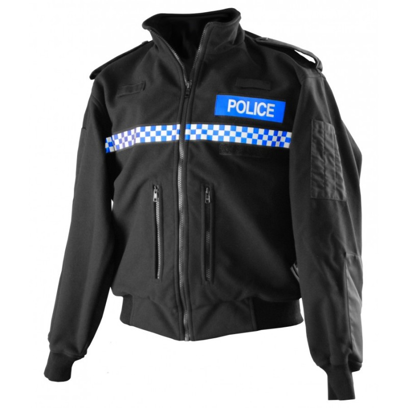 Bunda Britské Policie Fleece - černá