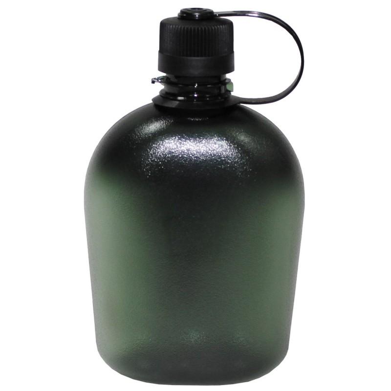 """Polní lahev """"čutora"""" průhledná Zelená"""
