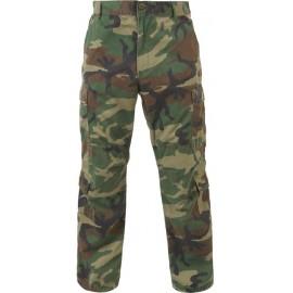 Kalhoty US  Woodland ripstop / BDU / vel. Small
