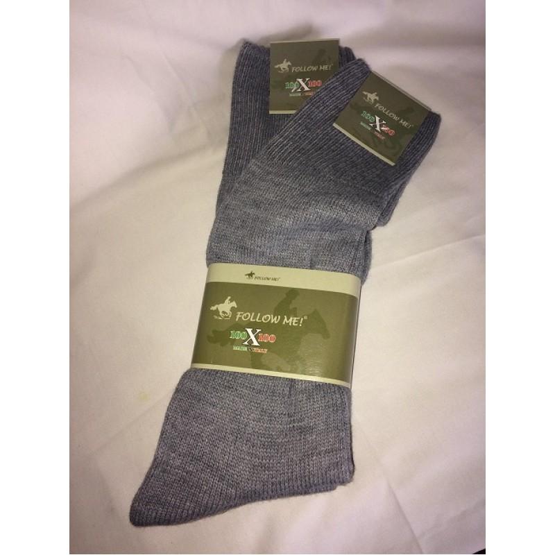Ponožky 80% vlna šedé