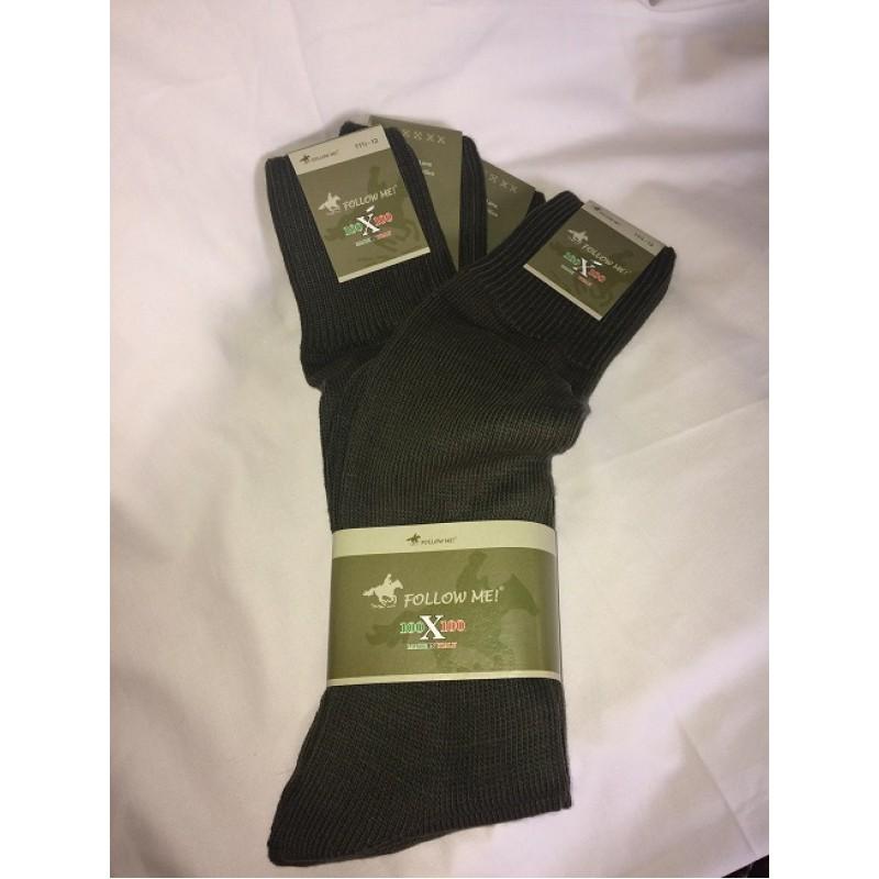 Ponožky 80% vlna zelené