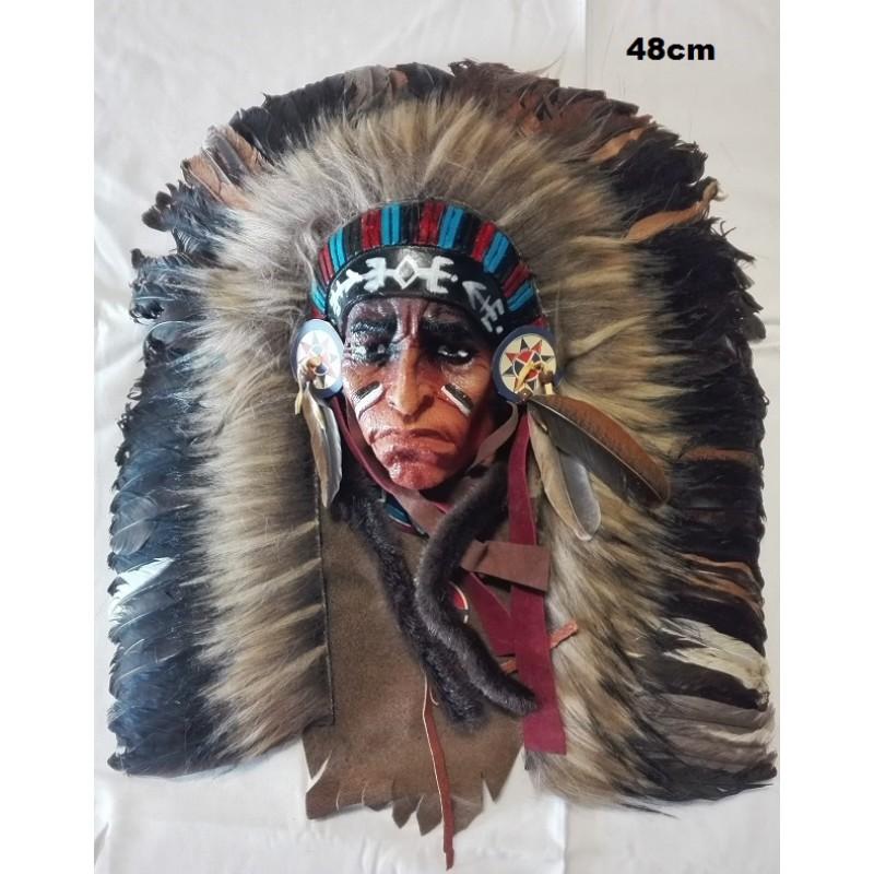 Indián - lapač, maska, čelenka